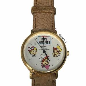 Vintage 1990 Kelloggs Rice Krispies Wrist Watch